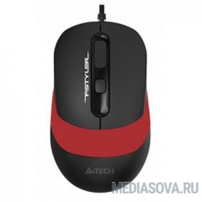 A-4Tech Мышь Fstyler FM10 black/red optical  (1600dpi) USB (4but) [1200652]