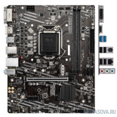 Материнская плата Материнская плата MSI H410M-A PRO Soc-1200 Intel H410 2xDDR4 mATX AC`97 8ch(7.1) GbLAN+DVI+HDMI