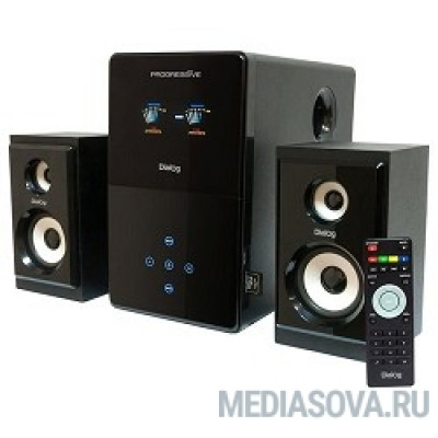 Dialog Progressive AP-220 BLACK 2.1, 30W+2*12W RMS, USB+SD reader