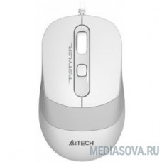 A-4Tech Мышь FStyler FM10  WHITE белый/серый оптическая (1000dpi) USB [1147676]