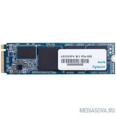 M.2 2280 256GB Apacer AS2280P4 Client SSD AP256GAS2280P4-1 PCIe Gen3x4 with NVMe, 1800/1100, IOPS 150/240K, MTBF 1.5M, 3D TLC, 437TBW, 1.56DWPD, RTL (918239)