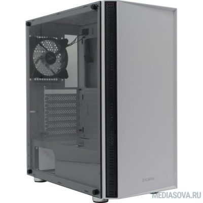 Корпус ZALMAN R2 WHITE, без БП, боковое окно (закаленное стекло), белый,  ATX