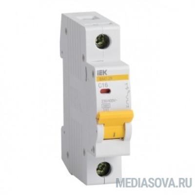 Iek MVA20-1-D05-C Авт. выкл.ВА47-29 1Р  0,5А 4,5кА х-ка С ИЭК