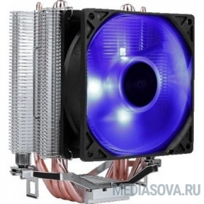 Cooler Aerocool Verkho 4 Lite 125W/ Intel 115*/AMD/ PWM / Blue LED/ Clip