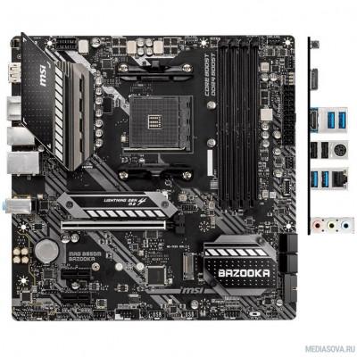 Материнская плата Материнская плата MSI MAG B550M BAZOOKA Soc-AM4 AMD B550 4xDDR4 mATX AC`97 8ch(7.1) GbLAN RAID+HDMI+DP