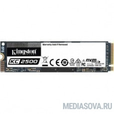 Kingston 2000GB KC2500 M.2 2280 NVMe R/W 3500/2900MB/s IOPs 375 000/300 000, 1200TBW