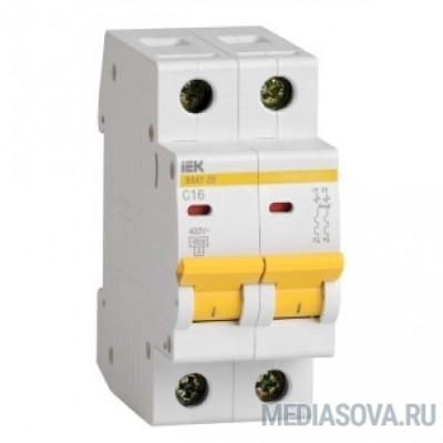 Iek MVA20-2-016-D Авт. выкл.ВА47-29 2Р 16А 4,5кА х-ка D ИЭК