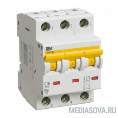 Iek MVA41-3-040-D Авт.выкл. ВА 47-60 3Р 40А 6 кА  х-ка D ИЭК