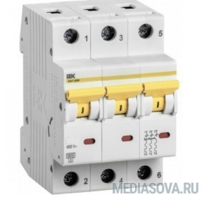 Iek MVA31-3-025-D Выкл. авт. ВА47-60M 3Р 25А 6кА D