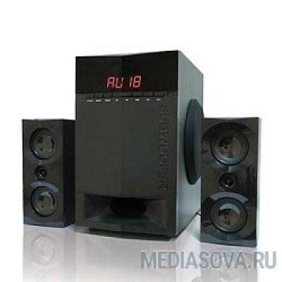Dialog Progressive AP-230 BLACK акустические колонки 2.1, 35W+2*15W RMS, Bluetooth, USB+SD reader