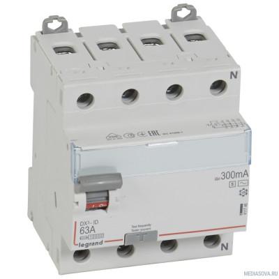 Legrand 411746 Выключатель дифференциального тока DX?-ID - 4П - 400 В~ - 63 А - тип AC - 300 мА - селективный - 4 модуля