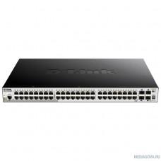 D-Link DGS-1250-52XMP/A1A Настраиваемый коммутатор 2 уровня с 48 портами 10/100/1000Base-T и 4 портами 10GBase-X SFP+ (48 портов с поддержкой PoE 802.3af/802.3at (30 Вт), PoE-бюджет 370 Вт)
