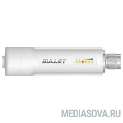 UBIQUITI BulletM2-HP Ультракомпактная точка доступа Wi-Fi, AirMax, Рабочая частота 2.4ГГц, Выходная мощность 30 дБм