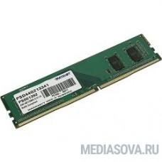 Patriot DDR4 DIMM 4GB PSD44G213341 PC4-17000, 2133MHz