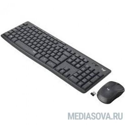 920-009807 Logitech MK295 с поддержкой SilentTouch Комплект беспроводной клавиатура+мышь, GRAPHITE, RUS, 2.4GHz