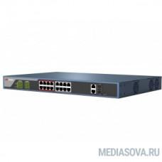 HIKVISION DS-3E0318P-E/M(B) 17x100Mb 1SFP 16PoE+ 135W неуправляемый