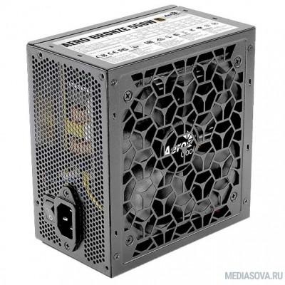 Блок питания БП Aerocool AERO BRONZE 550W <80+ Bronze, КПД>90%, ATX v2.4, A.PFC, Fan 12cm, Japanese Capacitors>