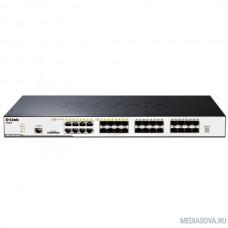 D-Link DGS-3120-24SC/B1ASI PROJ  Управляемый стекируемый коммутатор уровня 2+ с 16 портами 100/1000Base-X SFP, 8 комбо-портами 100/1000Base-T/SFP и 2 портами 10GBase-CX4