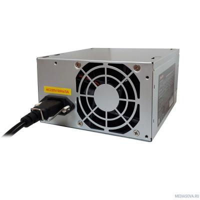 Блок питания Exegate EX256711RUS-S Блок питания AA500, ATX, SC, 8cm fan, 24p+4p, 2*SATA, 1*IDE + кабель 220V с защитой от выдергивания