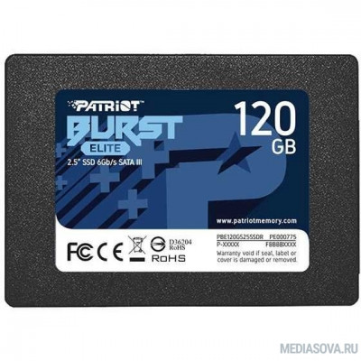Patriot SSD 120Gb Burst Elite PBE120GS25SSDR SATA 3.0