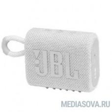Колонка порт. JBL GO 3 белый 4.2W 1.0 BT (JBLGO3WHT)