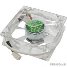 Вентилятор для корпуса TITAN <TFD-8025GT12Z (RB)> Green (80x80x25mm 3pin 15dB)
