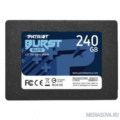 Patriot SSD 240Gb Burst Elite PBE240GS25SSDR SATA 3.0