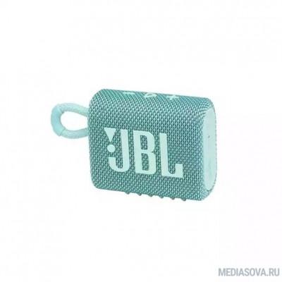Колонка порт. JBL GO 3 бирюзовый 3W 1.0 BT (JBLGO3TEAL)