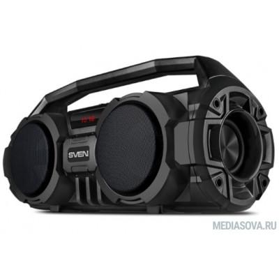 SVEN PS-415, черный, акустическая система (2.0, мощность 2x6 Вт (RMS), Bluetooth, FM, USB, microSD, LED-дисплей, встроенный аккумулятор)