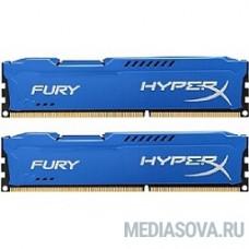 Kingston DDR3 DIMM 16GB (PC3-10600) 1333MHz Kit (2 x 8GB)  HX313C9FK2/16 HyperX FURY Blu Series CL9