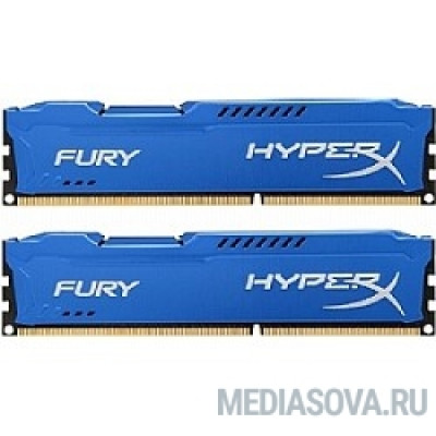 Оперативная память Kingston DDR3 DIMM 16GB (PC3-10600) 1333MHz Kit (2 x 8GB)  HX313C9FK2/16 HyperX FURY Blu Series CL9