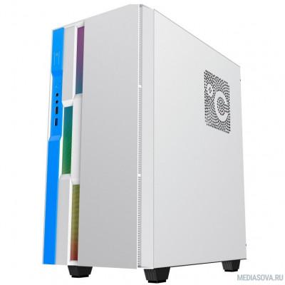 GameMax Корпус Brufen C3 WB без БП, MidiT, ATX, Бело-гол, Зак. стекл., USB 3.0, 1*120; 1*140мм вент.