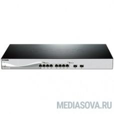 D-Link DXS-1210-10TS/A1A/A2A PROJ Настраиваемый коммутатор Smart уровня 2+ с 8 портами 10GBase-T и 2 портами 10GBase-X SFP+