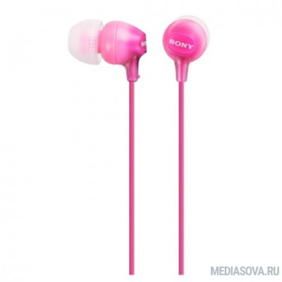Sony MDR-EX15AP 1.2м розовый проводные в ушной раковине (MDREX15APPI.CE7/MDREX15LPPIZ1(АЕ))