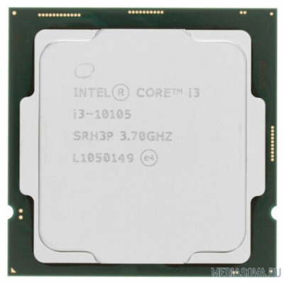 Процессор CPU Intel Core i3-10105 BOX 3.7GHz, 6MB, LGA1200