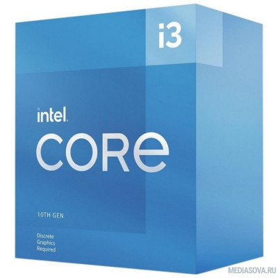 Процессор CPU Intel Core i3-10105F BOX 3.7GHz, 6MB, LGA1200