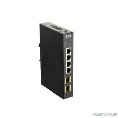 D-Link DIS-100G-6S/A2A Промышленный неуправляемый коммутатор с 4 портами 10/100/1000Base-T и 2 портами 1000Base-X SFP