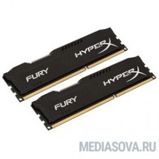 Kingston DDR3 DIMM 8GB (PC3-12800) 1600MHz Kit (2 x 4GB)  HX316C10FBK2/8 HyperX Fury Series CL10 Black