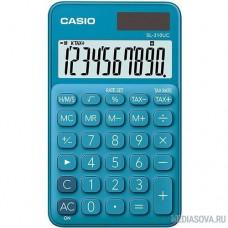 Калькулятор карманный Casio SL-310UC-BU-W-EC синий Калькулятор 10-разрядный [1013686]